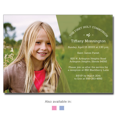 Modern Moment First Communion Invitation