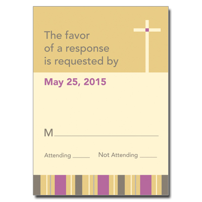 Sunrise Stripes First Communion Response Card