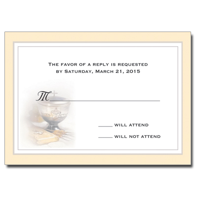 Silver Chalice First Communion Response Card