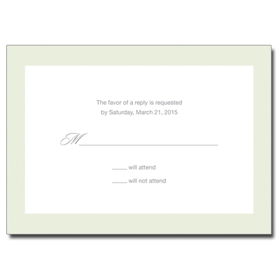 Simple Cross First Communion Response Card