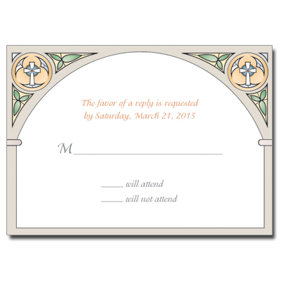 Stained Glass First Communion Response Card