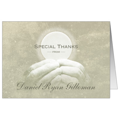 Our Savior First Communion Thank You Card