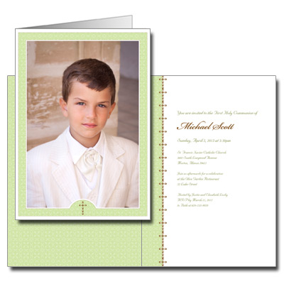 Wintergreen First Communion Invitation
