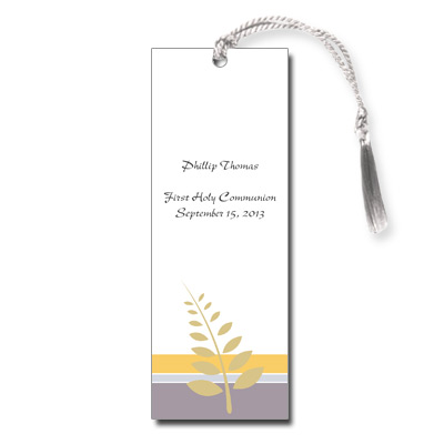 Olive Branch First Communion Bookmark