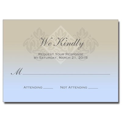 Pastel Boy Cross First Communion Response Card