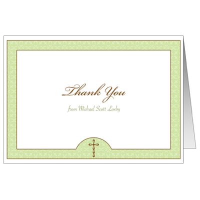 Wintergreen First Communion Thank You Card